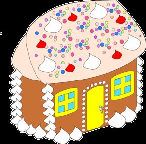 Lebkuchenhausbau zur Weihnachtsfeier