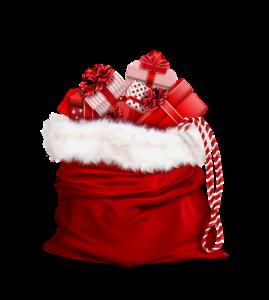 Sack mit Geschenken zum Schrottwichteln